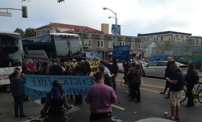 Senior and Disability Advocates Block Tech Buses in San Francisco