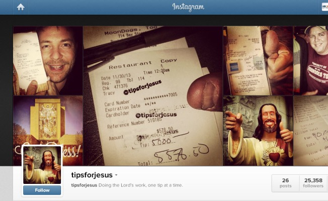 "Mystery ""Tips For Jesus"" Big Tipper (Possibly) Revealed"