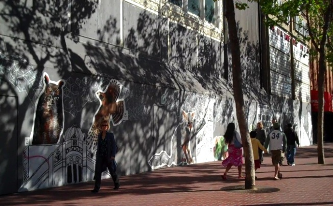 National Art Movement Jumps on Mid Market Mall