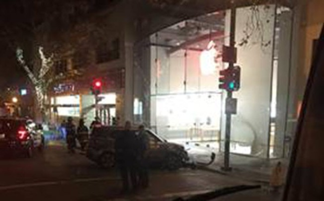 Four Arrested After Burglars Ram Car Into Apple Store in Palo Alto: Police