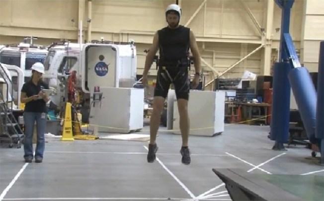 Moonwalk with NASA's ARGOS Reduced Gravity Simulator