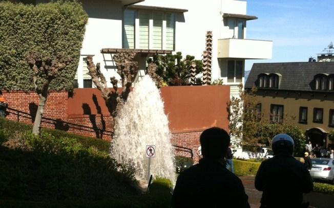 Car Strikes Hydrant, Floods SF's Lombard Street