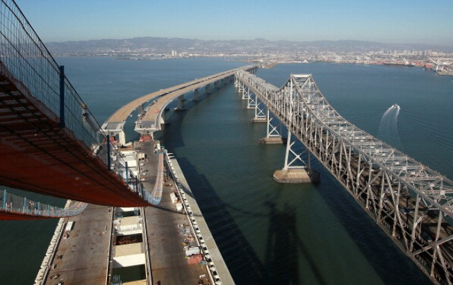 Bay Bridge Base Rods Can't Easily Be Inspected