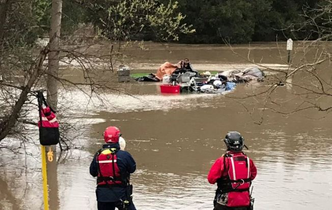 Five Homeless People Rescued from Flooded San Jose Golf Course