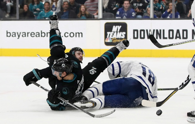 Sharks Unable to Hold Lead in Loss to Maple Leafs
