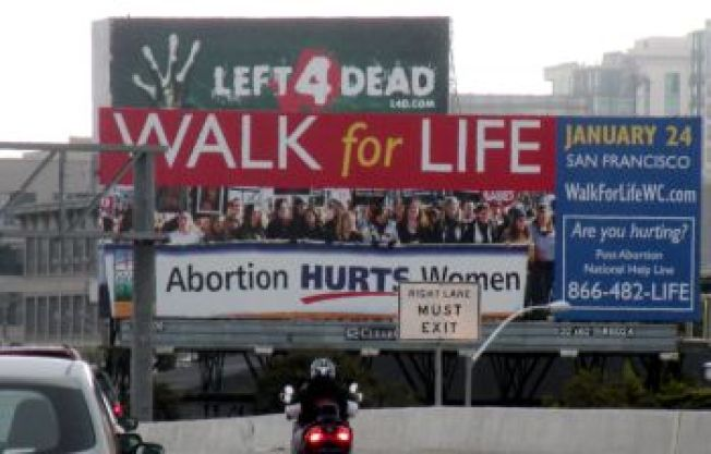 Both Sides of the Abortion Issue Rally in SF