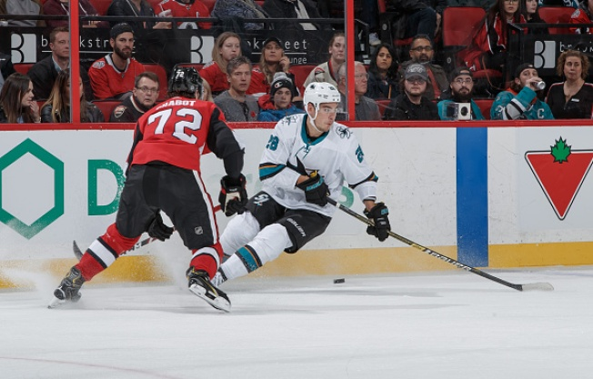 Sharks Unable to Keep Up With Senators in Loss