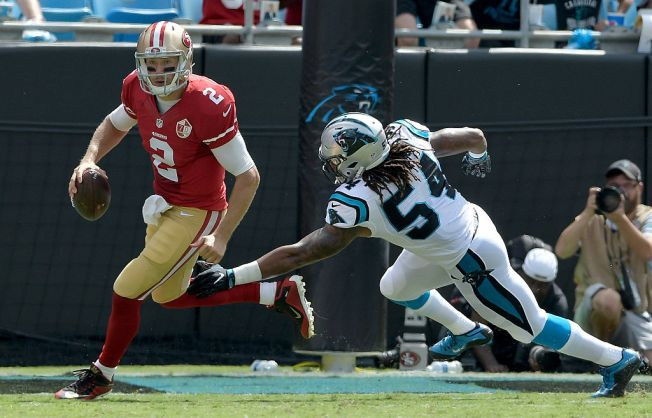 Cam Newton's record-setting day sends 49ers to 46-27 defeat