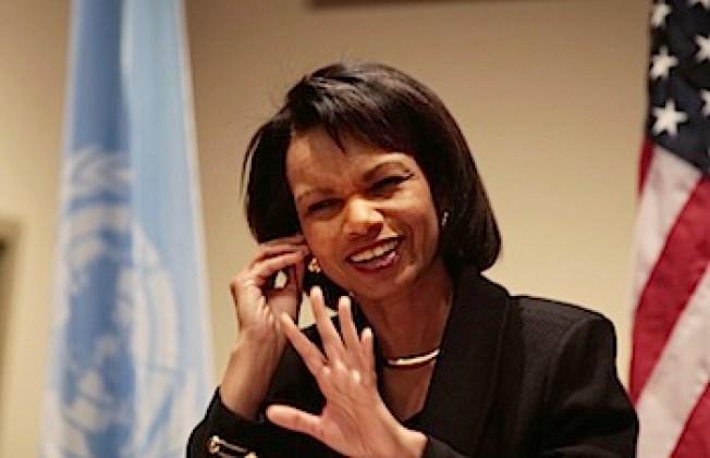 """Protesters to """"Welcome"""" Condoleezza Rice"""