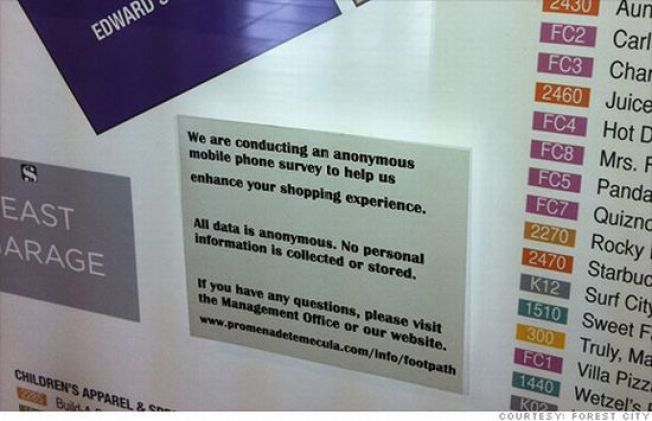 Malls Admit to Using Cell Phones to Track Shoppers