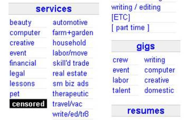 Craigslist Deletes Adult Services Everywhere