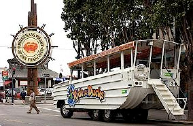 Duck Boat Stalls in McCovey Cove