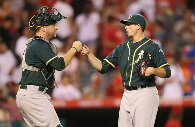 A's Avoid Sweep With Extra-Innings Win Over Angels