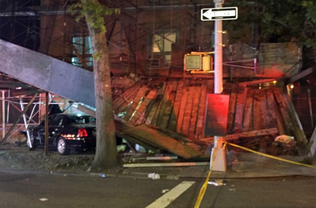 2 Seriously Hurt When Scaffolding Collapses on NYC Sidewalk