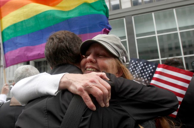 Brown, Couples Urge Speedy Return to Gay Marriages