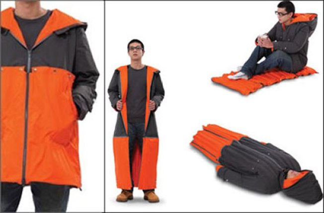 Inflatable Sleeping Coat Is One Modular Jacket to Rule Them All