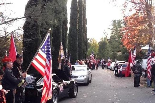 Danville Neighborhood Turns Out to Honor Marine