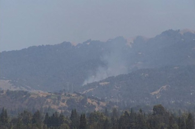 Vegetation Fire Burns Near Park in South San Jose