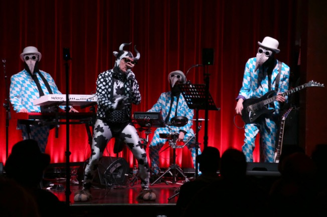 The Residents Perform 'The Brickeaters (A Novel)' at Swedish American Hall