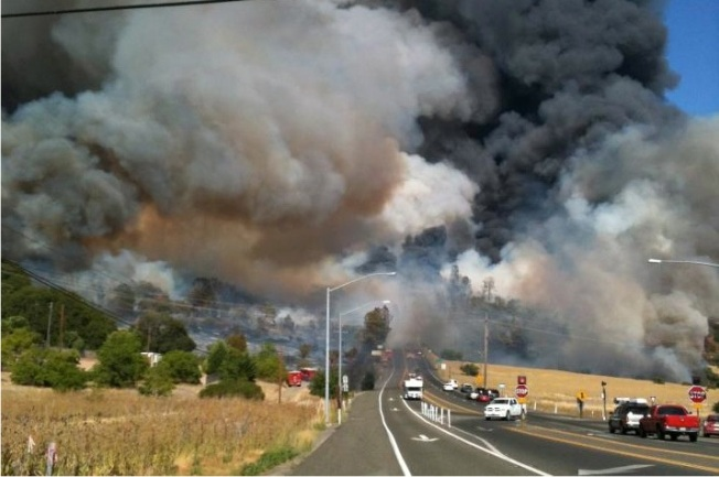 Wye Fire in Lake County Burns Out of Control