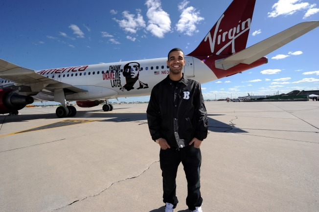 Virgin Airlines Names Plane After Hip-Hop Artist Drake