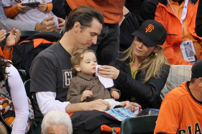 Newsom Clears His Political Calendar for the Giants, Throws Party