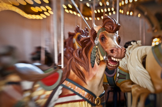 A Century Old Carousel May Spin All Year Round