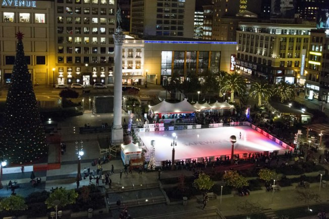 The Holiday Ice Rink in Union Square