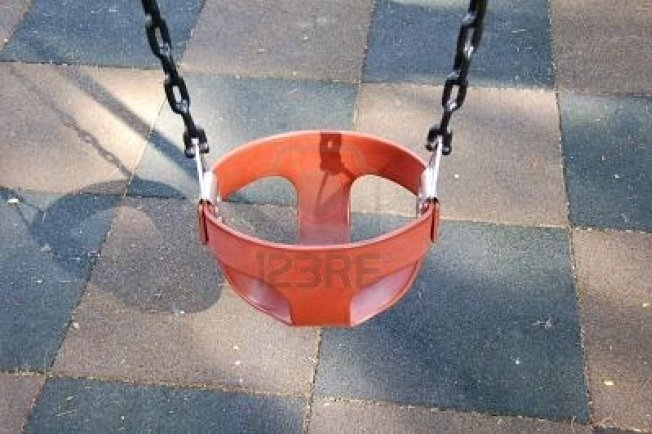 Man Gets Stuck in Swing After Bet with Friends