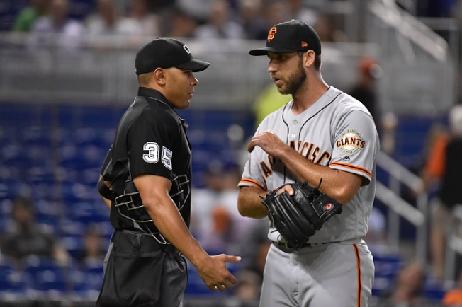 Bumgarner Shaky, Ejected in Giants' 7-5 Loss to Marlins