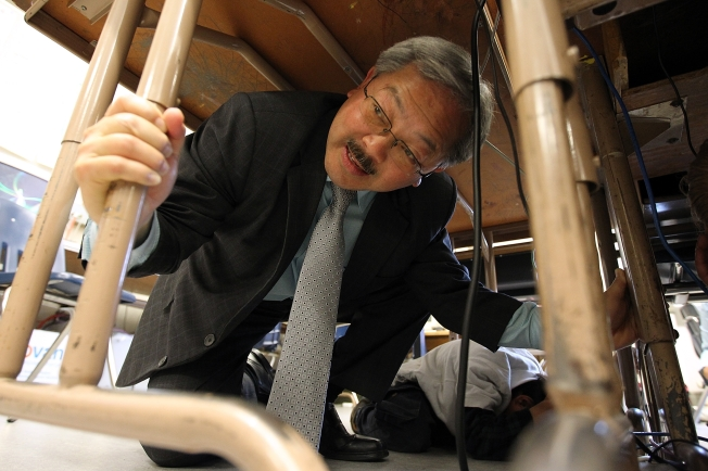 Mayor Ed Lee Deals with School Funding Issue