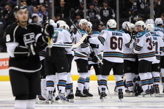 Sharks Win OT Game 3 Thriller