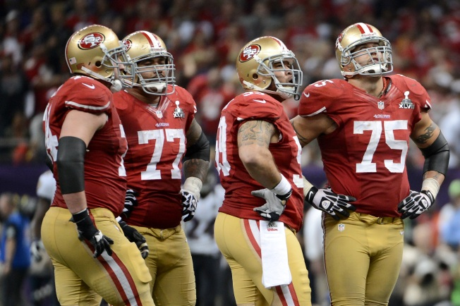Niners' Once-Durable Offensive Line Falling Apart