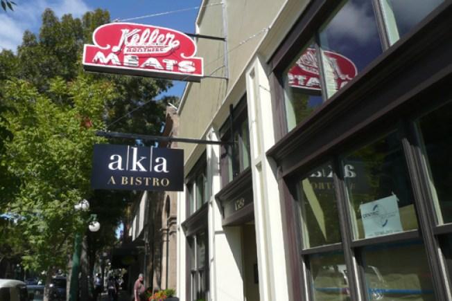 """Shenanigans: AKA (a Bistro)'s """"Keller"""" Signage Stays Up"""