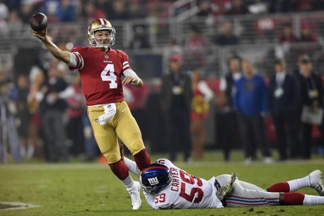 finest selection e4e1e 51129 Mullens, 49ers Fall to Giants on 'Monday Night Football ...