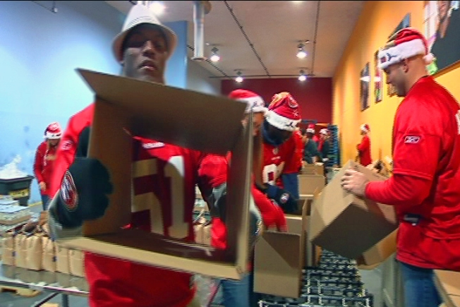 49ers Work the SF Food Bank