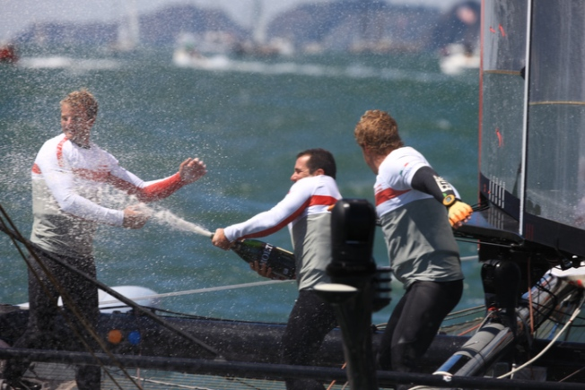 Oracle Team USA Skippers Win in SF