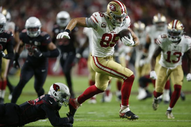 Niners' Kittle is Hurting But Likely to Play vs. Seahawks