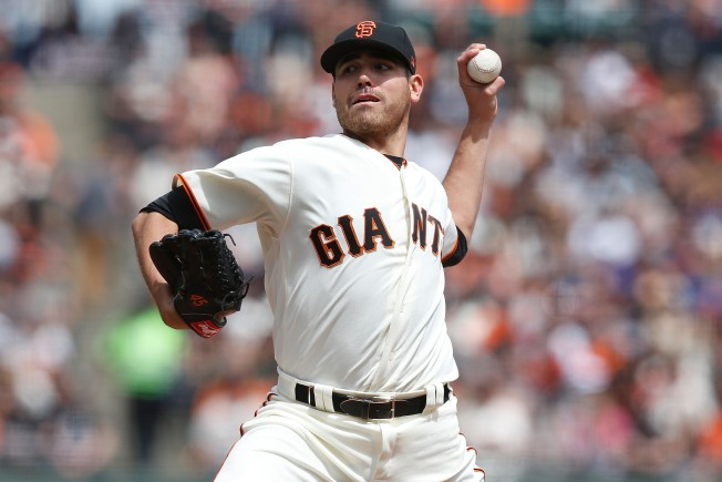 Moore Rocked for Five Runs, Giants Only Muster Two Hits in Loss