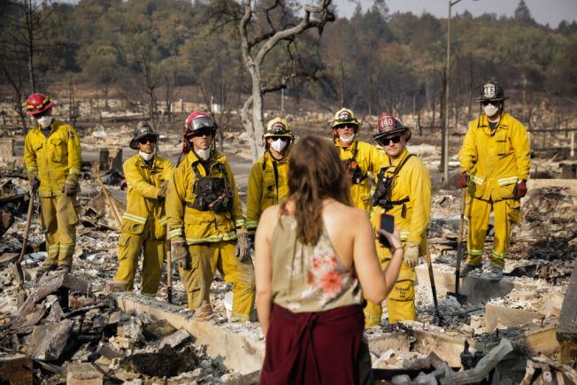 'I Worked Four Days Straight': Army of Firefighters Brave Deadly Northern California Firestorm