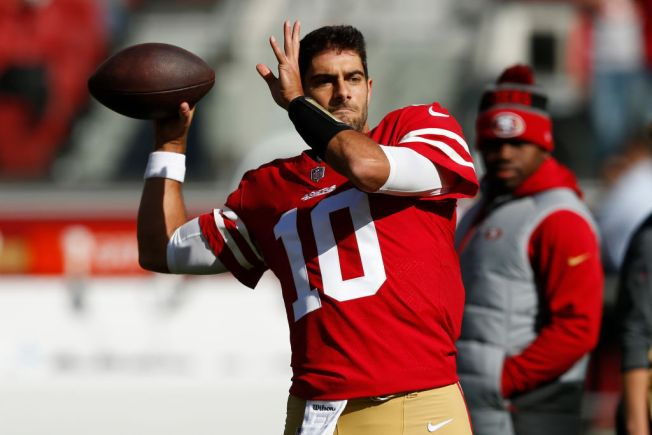CJ Beathard to stay 49ers' starting QB; Jimmy Garoppolo still learning offense