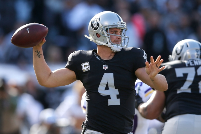a101c97cc Pro Bowl-Bound  Raiders QB Derek Carr Tapped to Replace Injured Aaron  Rodgers