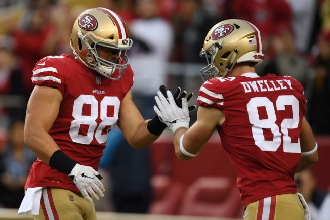 With Celek Out, Dwelley Getting His Shot at Tight End for 49ers
