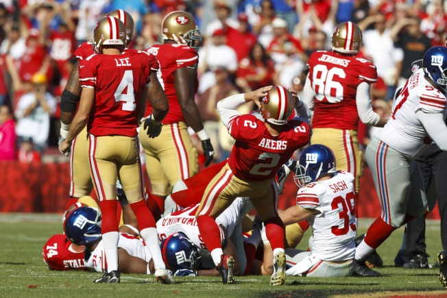 Misses by 49ers' Reliable Kicker David Akers Are Troubling