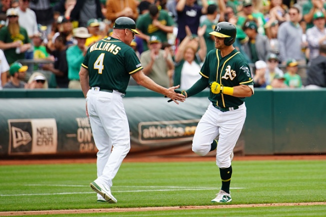 A's Rebound to Beat Brewers, Take Series