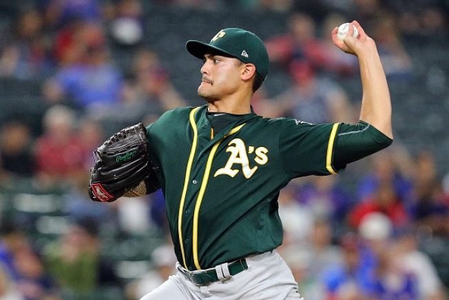 Manaea Solid as A's Top Rangers in Opener of Final Series