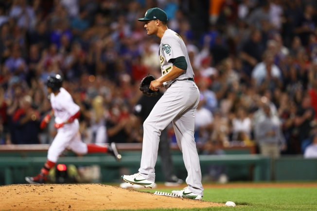 A's Streak Ends as Manaea is Roughed Up By Red Sox