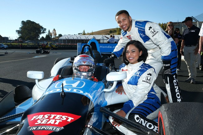 Curry Duo Zooms Around Sonoma Raceway With IndyCar Legend