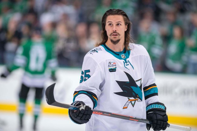 on sale 84667 1dab3 Erik Karlsson at Top of His Game as Sharks Host Senators in ...
