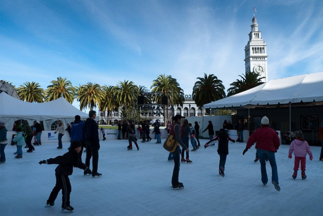 Embarcadero Ice Skating Means Its That Time of Year Again